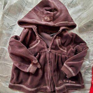 18 Months Girl Calvin Klein Hoodie Jacket Brown